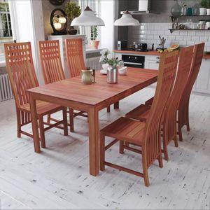 TABLE À MANGER COMPLÈTE Ensemble table à manger de 4 à 6 personnes Ensembl