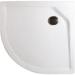 RECEVEUR DE DOUCHE Receveur de douche quart de cercle 80x80 cm, bac à