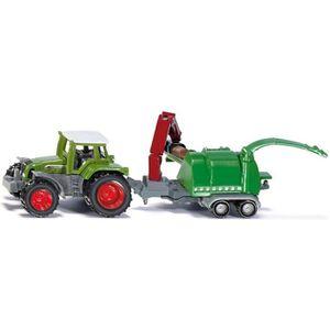 VOITURE - CAMION SIKU Tracteur et Broyeur de Branches - Véhicule Mi