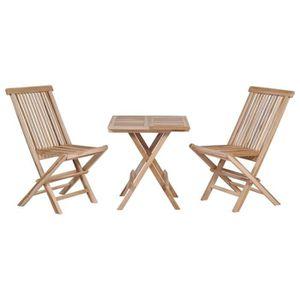 Table et chaise de jardin Bois massif - Achat / Vente Table ...