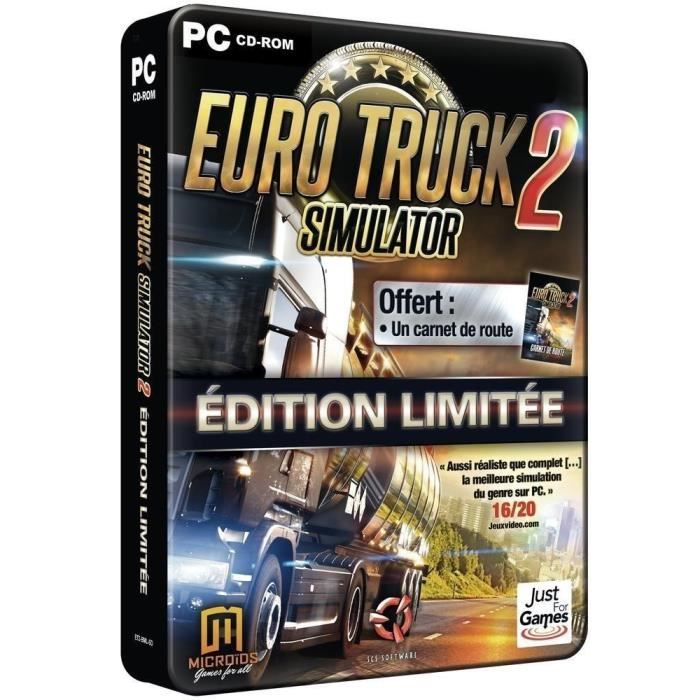 eurotruck 2 simulator complete limited edition jeu pc achat vente jeu pc eurotruck 2 comp. Black Bedroom Furniture Sets. Home Design Ideas