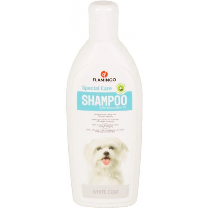 Shampoing spécial pelage blanc . pour chien. flacon de 300 ml.-Flamingo Pet Products 14,000000