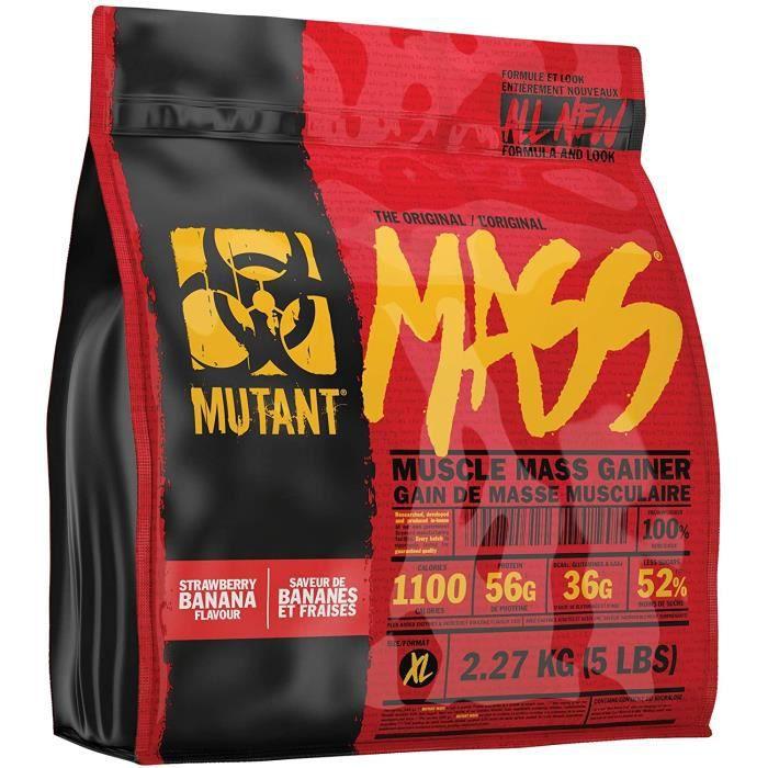 MUTANT MASS – Protéines en poudre pour pr de masse Mélange de protéines de lactosérum et de caséine pour boissons- shakes et s[275]