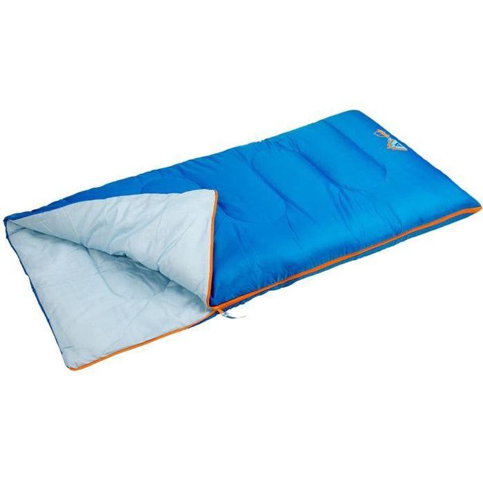 ABBEY CAMP Sac de couchage - Enfant Mixte - 100% polyester 190T - Dimensions : 140 x 70 cm - Bleu