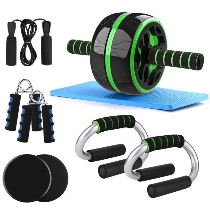 Odoland Roue Abdominale AB Wheel Roller Pro 6 en 1 de Fitness et Musculation - Rouleaux d'Entraînement Roues Gommées + Tapis Epais p