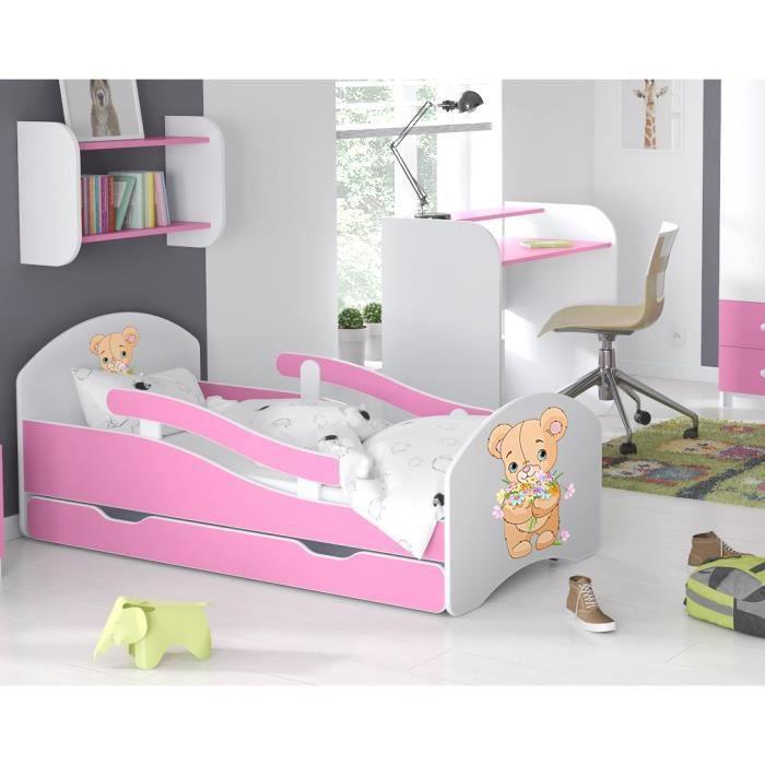 LIT ENFANT Dreams 160x70cm, AVEC MATELAS & BARRE DE SECURITE & TIROIR - l2