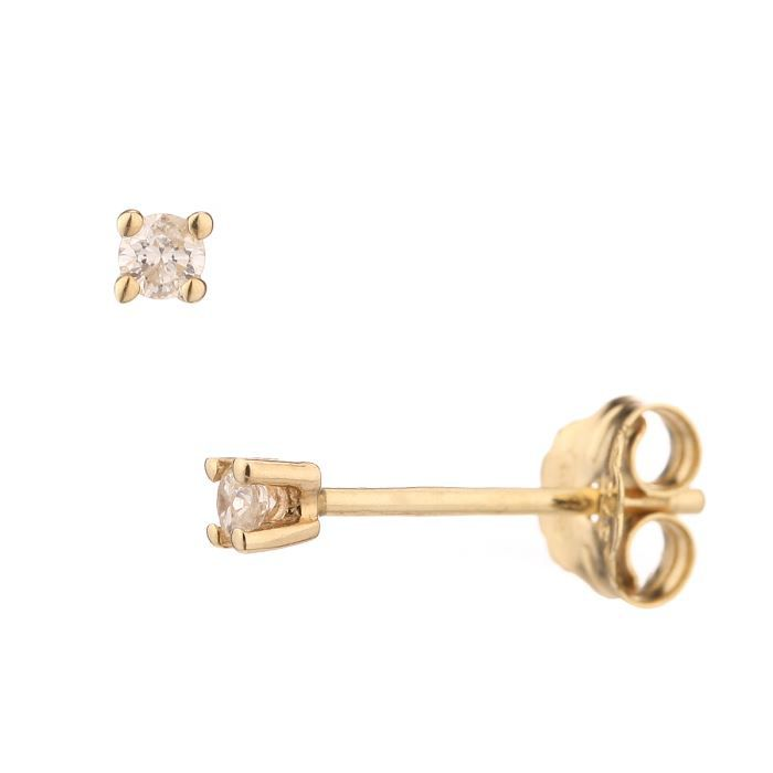 MONTE CARLO STAR Boucles d'oreilles clous Or jaune 375° et Diamants Femme