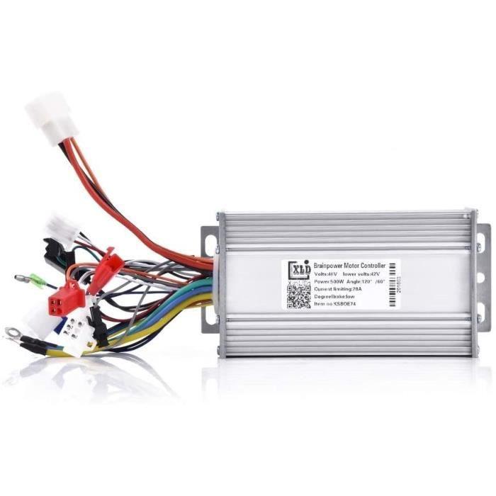 DeWin Contrôleur Trottinette - Trottinette Electrique 500W Contrôleur d'onde sinusoïdale de Moteur sans Brosse de 48V 500W pour 174
