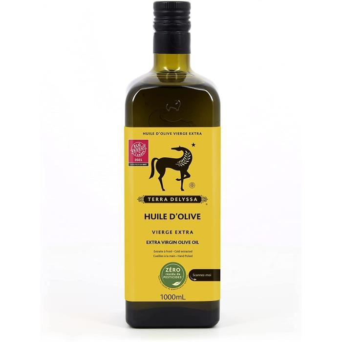TERRA DELYSSA Huile d'Olive Vierge Extra Zéro Résidu de Pesticides Zrp 1L