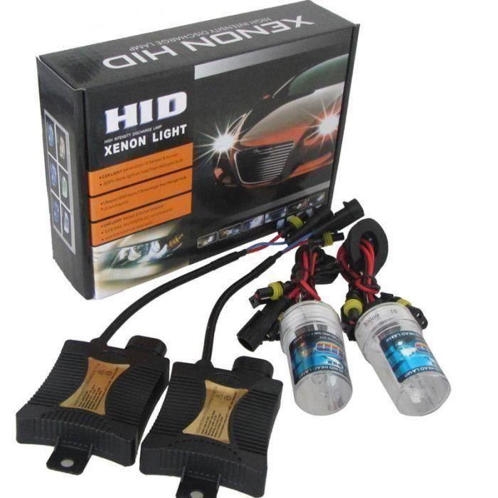 BK Kit Conversion HID 55W H7 8000K Ampoules Xénon Ballasts Accessoires Auto