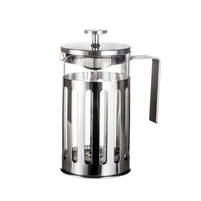 Tasse à café,quipement repas,Carafe à café en verre,carafe en acier inoxydable,filtre moulu - Type 600ml