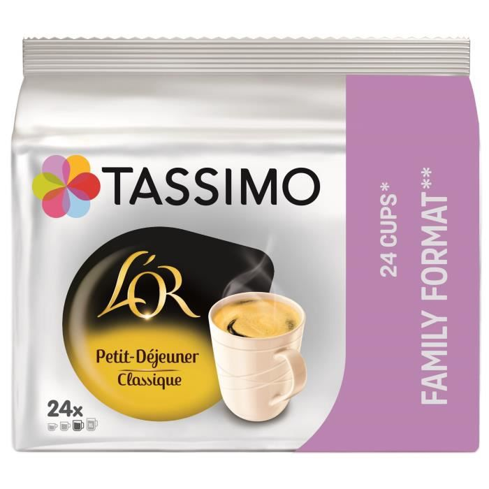 Tassimo L'Or Petit déj Classic café en dosettes x24 -199g