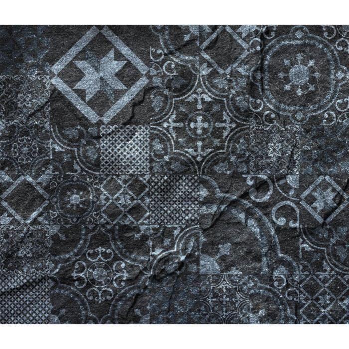 Crédence adhésive en alu imitation Ardoise - L. 20 x l. 20 cm - Noir