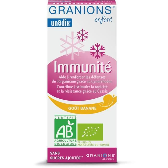 GRANIONS® ENFANT IMMUNITE ** - BANANE - 125 ML