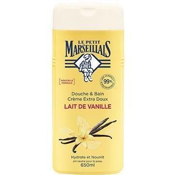 LE PETIT MARSEILLAIS Gel douche/Bain Extra Doux Lait de Vanille - 650 ml