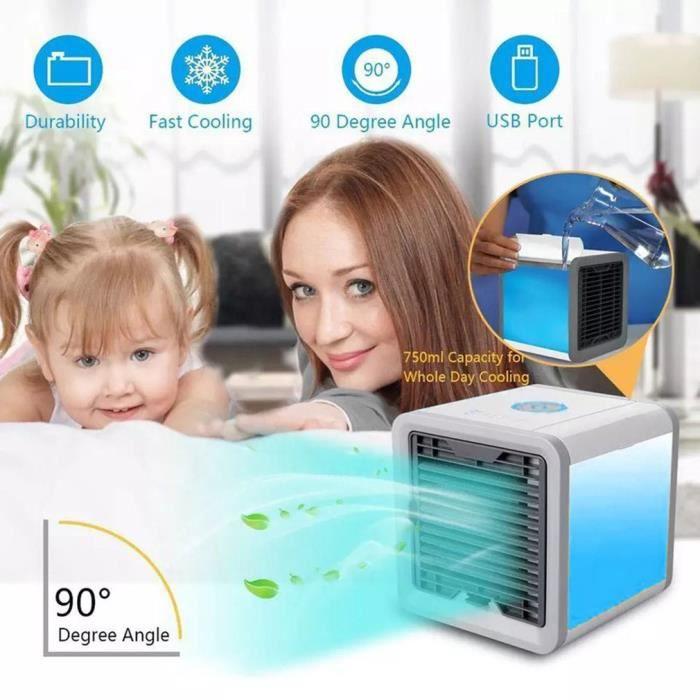 climatiseur mini portatif LED refroidisseur d'air portatif avec l'humidificateur mené léger apaisant pour le bureau à la maison