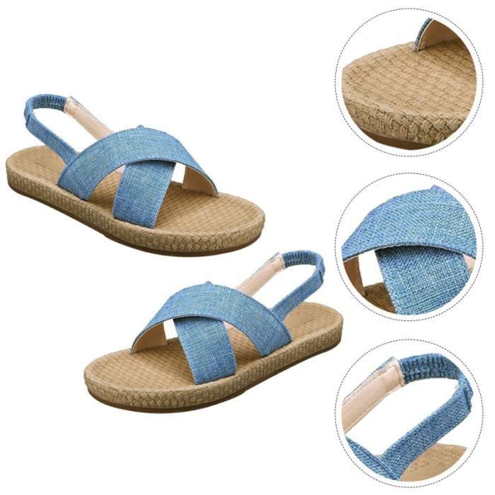 1 paire Plat Sandales chic Coffre-Fort Agréable Fine Femmes d'Été Chaussures de sandale - nu-pieds chaussures de ville