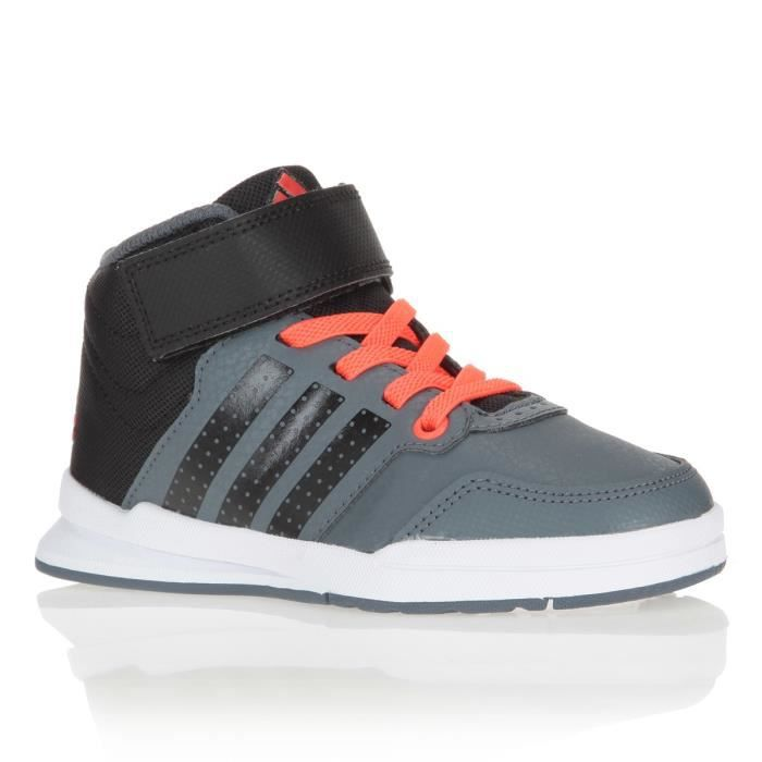 adidas neo baskets jan enfant chaussures gar on noir gris et orange achat vente basket. Black Bedroom Furniture Sets. Home Design Ideas