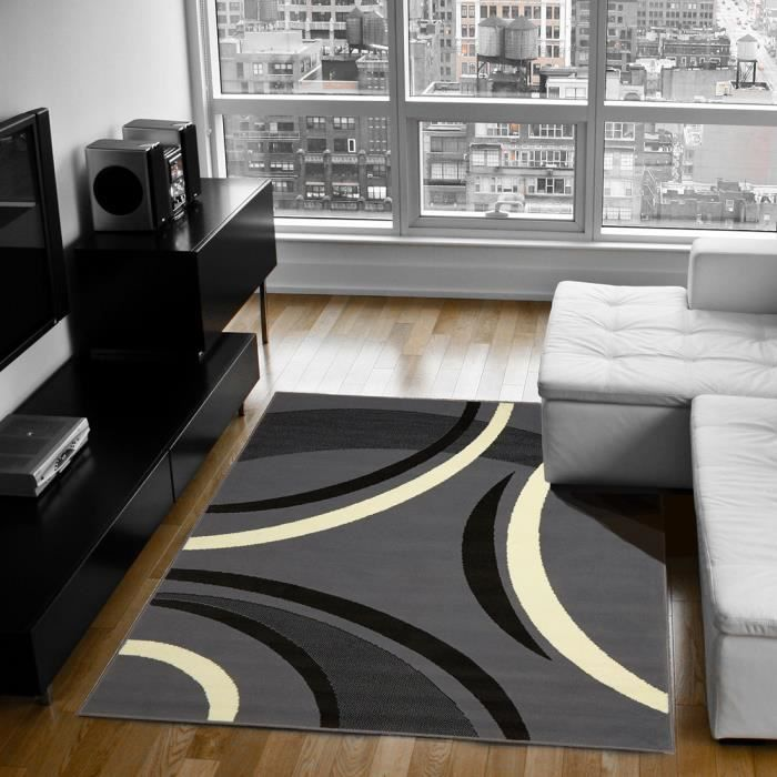 tapis pas cher premier prix joyle gris 200x290 achat vente tapis cdiscount. Black Bedroom Furniture Sets. Home Design Ideas