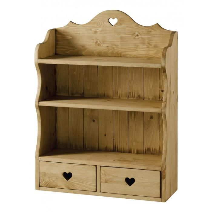 etag re pin massif 2 tiroirs coeur accessoires achat. Black Bedroom Furniture Sets. Home Design Ideas