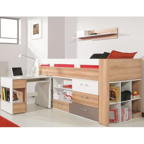 lit sur lev kid combin bureau commode puzzle achat vente lit combine lit bureau. Black Bedroom Furniture Sets. Home Design Ideas