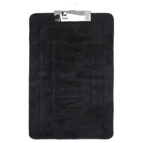 tapis salle de bain 60x90cm noir achat vente tapis de bain cdiscount. Black Bedroom Furniture Sets. Home Design Ideas