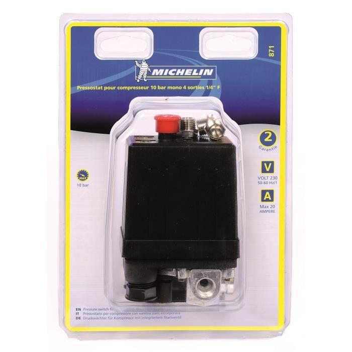 ACCESSOIRE COMPRESSEUR MICHELIN Pressostat Pour Compresseur 10 Bars Mono