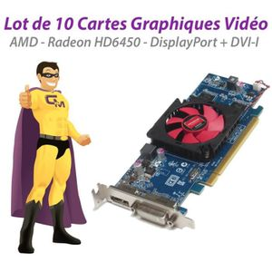CARTE GRAPHIQUE INTERNE Lot x10 Carte Radeon HD6450 ATI-102-C26405 2FVV6 1