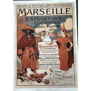 AFFICHE - POSTER Marseille -Exposition Coloniale 1906 - J- de la Né