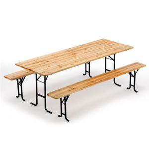 Table en bois avec banc