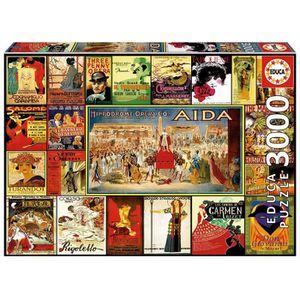 PUZZLE EDUCA Puzzle 3000 pièces Collage D'Operas