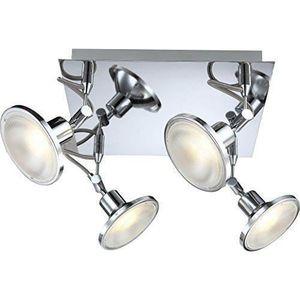 PLAFONNIER Globo Aaron Plafonnier 4 x spots LED Chromé 5W