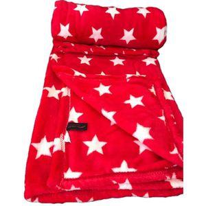 COUVERTURE - PLAID Linder Plaid étoile rouge 130cm x 180cm Très Confo