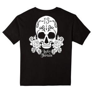 T-SHIRT Lucky Sugar Skull T-shirt Biker Camionneur Rockabi