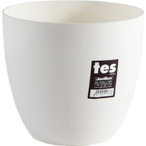 JARDINIÈRE - BAC A FLEUR PLASTIKEN Pot de fleurs bol Tes - 18 cm - Blanc