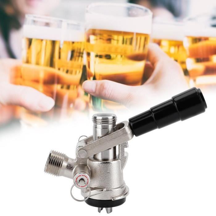 Distributeur de bière pression de type S de coupleur de fût avec soupape de surpression de sécurité Système de brassage à domicile-C