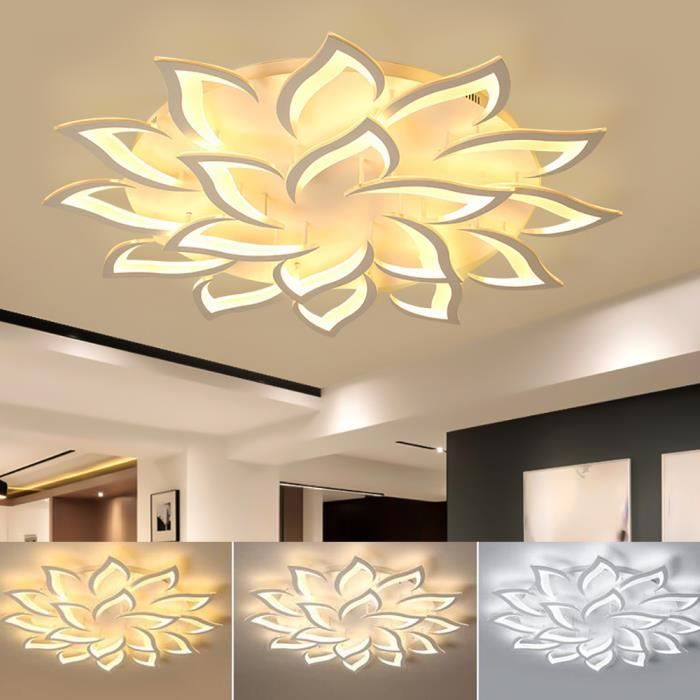 moderne dimmable LED acrylique plafonnier lampe salon salle à manger