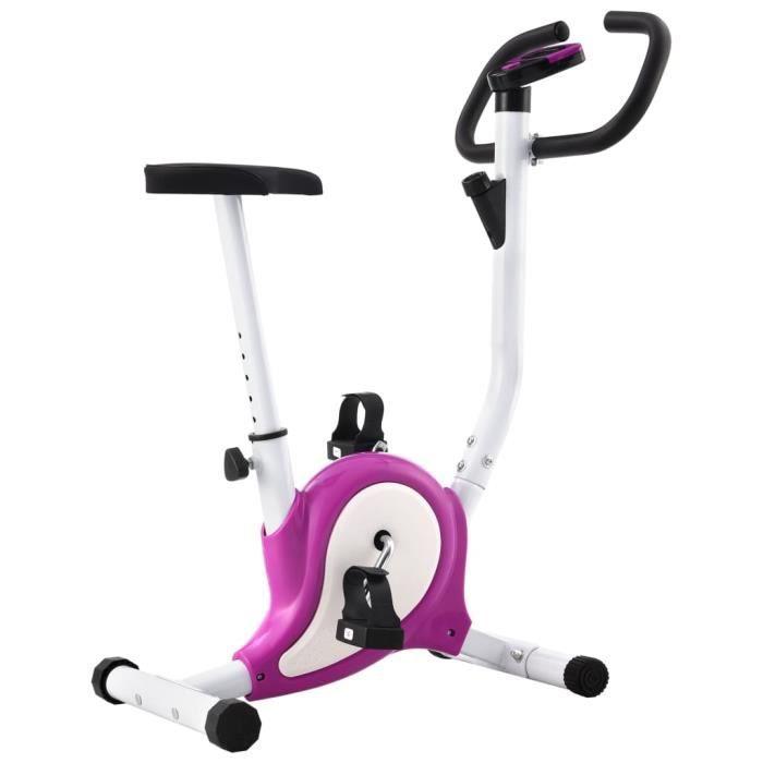 Vélo elliptique Vélo d'appartement avec résistance à courroie Violet