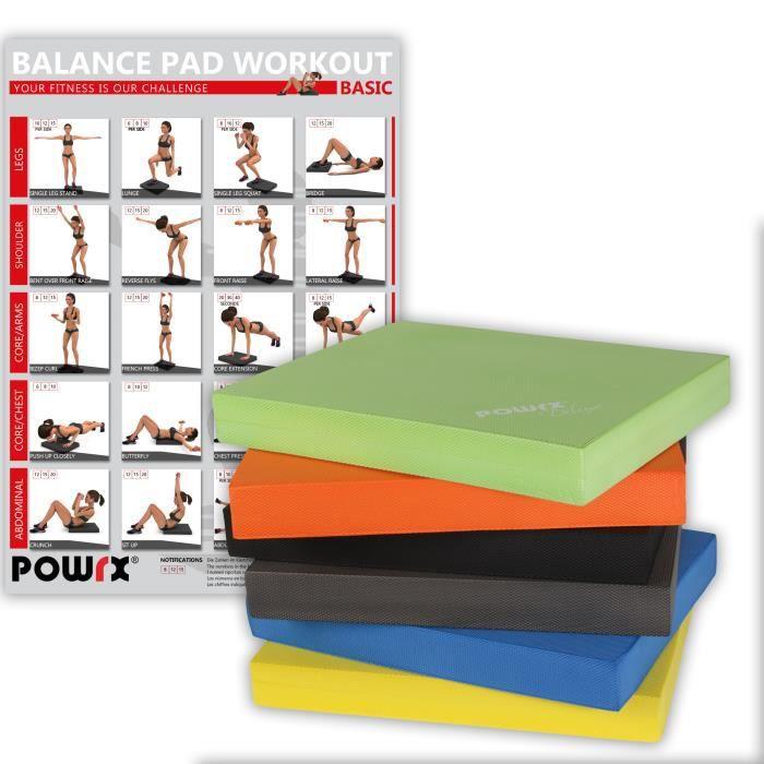 Balance Pad Deluxe en différentes couleurs / Tapis d´entraînement/ Coussin d´équilibre Couleur: Vert