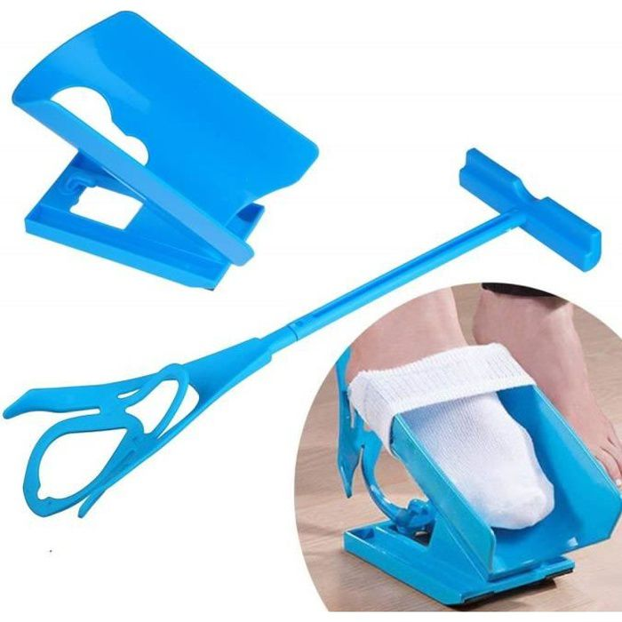 Enfile-chaussettes Sinbide® - Pour chaussettes, bas, bas de contention - Aide aux personnes âgées, enceintes ou en cas de surpoid