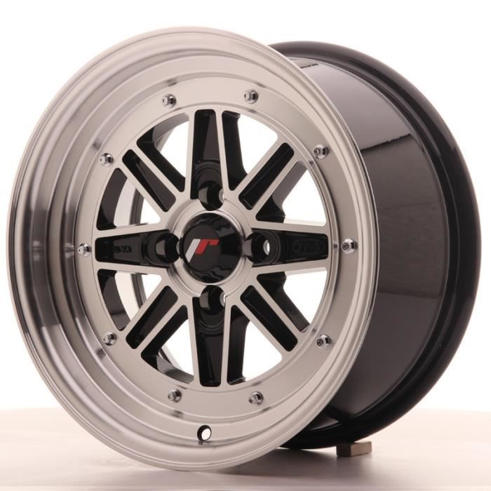1 jante alu Japan Racing JR31 15x7.5 ET20 4x100 Black Machined avec bague 73,1