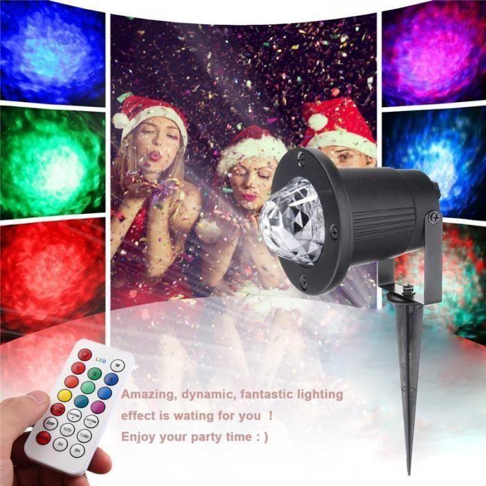 12W Lumières de projecteur Noël lumière effet de flamme mer pr pelouse jardin télécommande EU ma30060