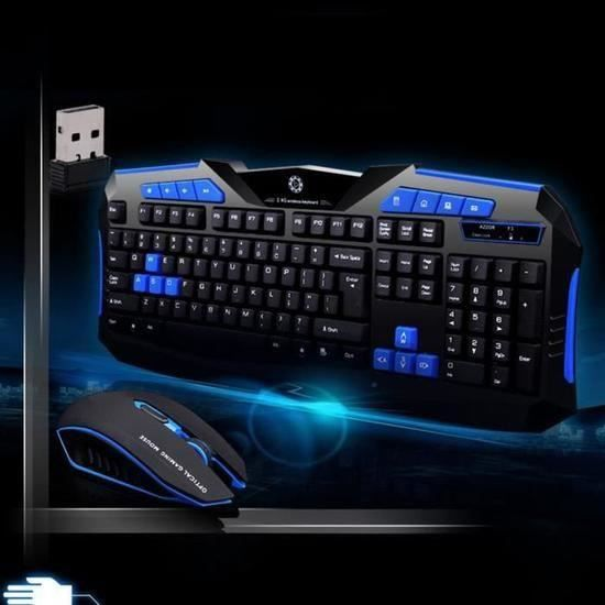 Gaming clavier 2.4G sans fil et souris à l'ordinateur Gamer Multimédia_sb*898
