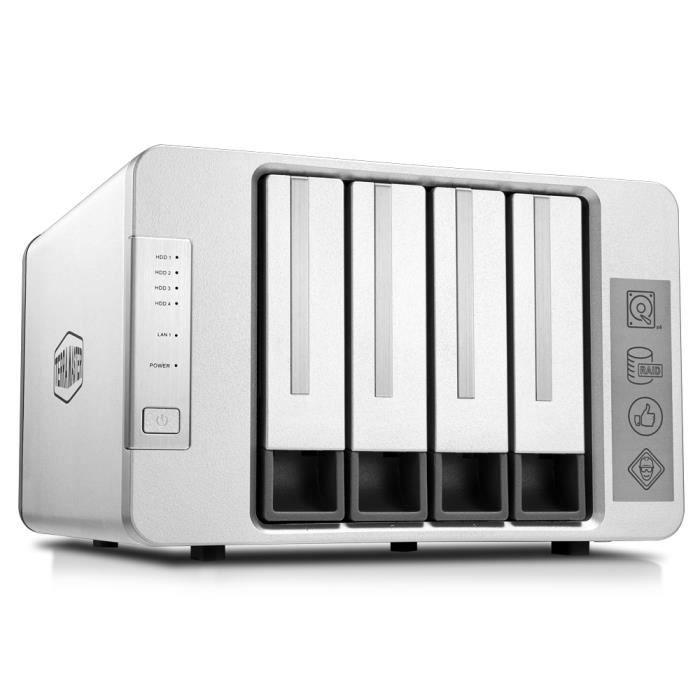 TerraMaster F4-210 NAS 4 Baies Quatre cœurs 1GB Serveur multimédia et Stockage Personnel sur Le Cloud (sans Disque)
