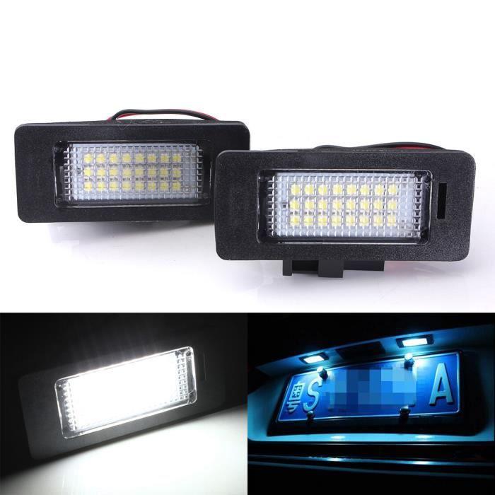 2 x LED Feux Plaque D'immatriculation Lampe Pr Audi A4 A5 Q5 S5 TT 08-13 Aucune erreur