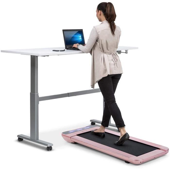 TAPIS DE COURSE Capital Sports Workspace Go - Tapis de Course et Cardio de Bureau, Puissance 350 W, Ultra-Plat 11 cm de Hauteur,65