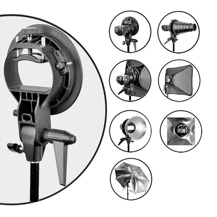 Godox S-Type Support pour flash Cobra Speedlite Snoot Diffuseur Nid d'Abeille