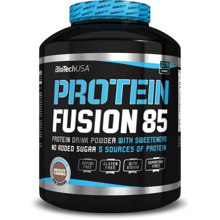 PROTEIN FUSION 85 CHOCOLAT Biotech USA Proteine BCAA Arginine