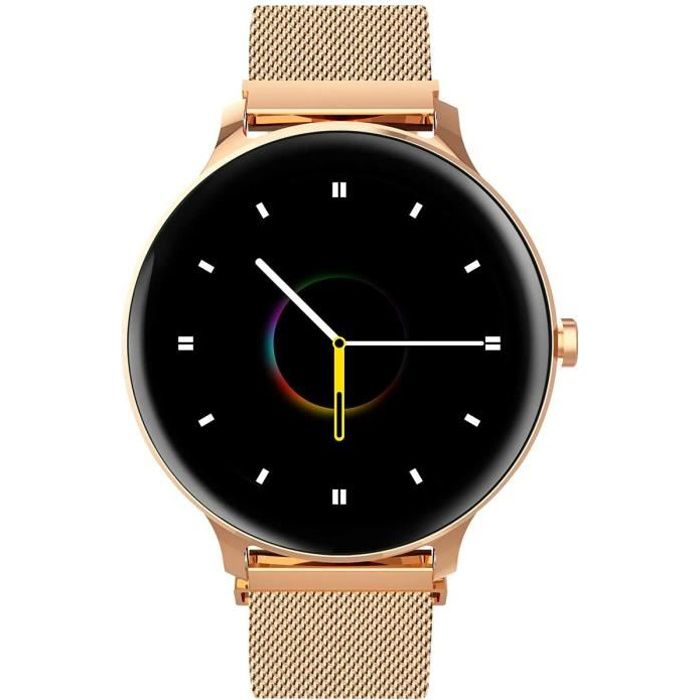 Blackview X2 Montre Connectée Smartwatch Fitness Tracker 9 Modes Sportifs Montre Intelligente IP68 Android IOS - Or