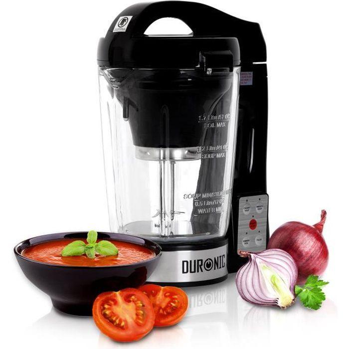 Duronic BL78 Blender chauffant - Créez des soupes par simple pression d'une touche !